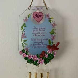 MOM Love Hanging Wind Chime Home Decor Rare Find